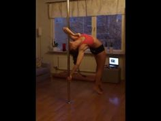 Pole dance tutorial: Elbow grip handspring - YouTube