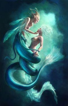 De populairste tags voor deze afbeelding zijn: art, fish, painting, mermaid en ocean