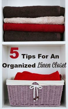 5 tips to help you organize your linen closet so you can find what you need when you need it, without having to dig around and make a mess. #ad