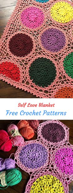 Self Love Blanket Free Crochet Pattern #crochet #crafts #homedecor #style #handmade #blanket