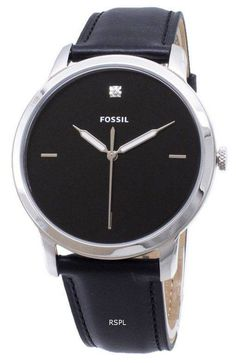 Features: Stainless Steel Case Leather Strap Quartz Movement Mineral Crystal Black Dial Analog Display Luminous Hands Pull/Push Crown Solid Case Back Buckle Clasp Water Resistance Approximate Case Diameter: Approximate Case Thickness: Fossil Watches, Watch Sale, Watches Online, Stainless Steel Case, Watches For Men, Quartz, Crown, Mineral, Crystals