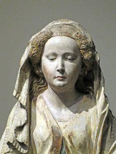 Hans Multscher (1400-1467),  Detail of: St. Mary Magdalene, ca. 1465, Liebieghaus, Frankfurt am Main, Germany.