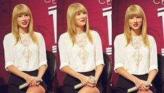 Taylor Swift at the Staples Center Press Conference