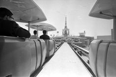 Peoplemover at Disneyland back before they had to 'cage' in the cabin