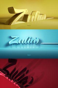 Zulia Pro Poster 3D by Joluvian, via Behance