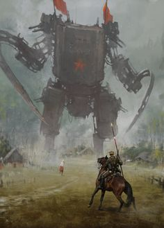 1920 - hammer and sickle, Jakub Rozalski on ArtStation at https://www.artstation.com/artwork/1920-hammer-and-sickle