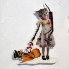 Trouvé sur Hi-Fructose, les collages étranges de l'artiste Sienna Freeman :