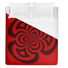"Spiral Abstraction Red, abstract curves pattern, mandala style Duvet Cover (Queen Size) #duvets #bedroom #bedding #home #decor #art Dream even sweeter dreams when you lay your head down to sleep at night under your personalized duvet quilt! With a range of sizes to choose from you can design matching sheets for your whole family. Why not match it with pillow cases and a fitted sheet as well to have a complete set? Bed Size: Queen Size Dimensions: 88"" H x 88"" W Material: Cotton & Polyester… Funny Sleep, Sleep Room, Mandala, Room Stuff, Can Design, Bed Sizes, Queen Size, Bedding Sets, Duvet Covers"