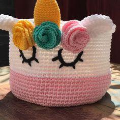 Canasta unicornio para la pequeña princesa de la casa #uchidetalles