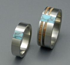 Koa Comet and Constellation - Wooden Wedding Rings. $497.00, via Etsy.