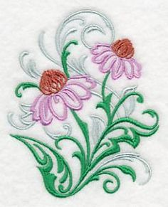 Machine Embroidery Designs at Embroidery Library! - Filigree Flowers