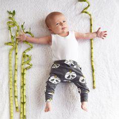 Organic Panda baby leggings - Fred & Noah