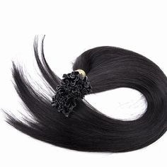 100s Straight Nail/U Tip Human Hair Extensions #1B Natural Black - Beauty Pre Bonded Hair Extensions, Fusion Hair Extensions, Human Hair Extensions, Indian Hairstyles, Straight Hairstyles, Virgin Indian Hair, Frontal Hairstyles, Hair Quality, Hair Weft