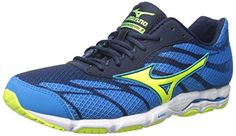 Mizuno Womens Wave Hitogami 3 Running Shoe Diva BlueSafety Yellow 9 B US >>> You can get more details by clicking on the image.(This is an Amazon affiliate link and I receive a commission for the sales)