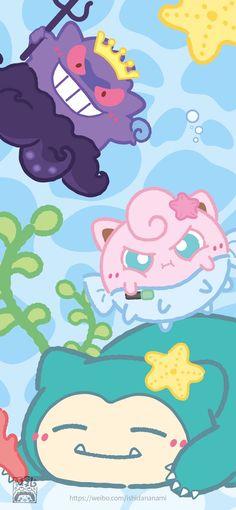 Cute Patterns Wallpaper, Cute Anime Wallpaper, Iphone Wallpaper, Pokemon W, Pikachu, Kawaii Crochet, Pretty Art, My Childhood, Smurfs