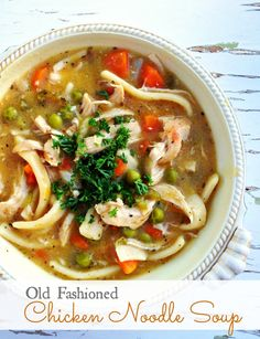 This is a classic old fashioned chicken noodle soup recipe.  You may not need it now, but definitely save this recipe for later!!