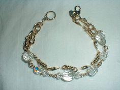 kirks folly crystal bracelet double strand by qualityvintagejewels