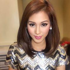 Alex Gonzaga Cathy Gonzaga Aj Al Filipina Actress, Filipina Beauty, Beauty Makeup, Face Makeup, Hair Beauty, Queen Hair, Shoulder Length Hair, Gorgeous Hair, Beautiful