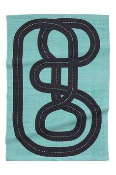 Tapis en coton: Tapis en coton avec route imprimée. Envers antidérapant.