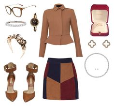 """Work"" by talyashushan on Polyvore featuring Burberry, Michael Kors, Cartier, Vittorio Ceccoli, Tiffany & Co., Latelita, Swarovski and LaMarque"