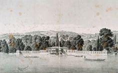 1819 yılı Melling, Bebek Köşkü bakır baskı gravürü @SedefsCorner @IstanLOOK #istanbul #gravür