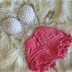 White Chopped and pink short