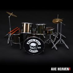 Black Label Society Signature Miniature Drum Set Replica Collectible