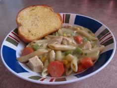 I do not like canned chicken noodle soup. But when I was sick a few months back, I wanted some homemade chicken noodle soup. Soup Recipes, Healthy Recipes, Pink Apron, Semi Homemade, Canned Chicken, Chicken Noodle Soup, Main Courses, Soups And Stews, Crock Pot