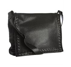 LEATHER Picture Bags | Bottega Veneta black leather flap messenger bag | Men's bags