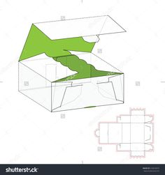 Decorative Box With Die Line Template Stock Vector Illustration 310616015 : Shutterstock