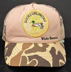 Ducks Unlimited 50th Anniversary Camo Cap Hat NRA DU White Mountain 76b4ce24dbdf