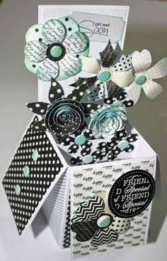 The post Flower Box! 2019 appeared first on Flowers Decor. Card In A Box, Pop Up Box Cards, 3d Cards, Card Boxes, Fancy Fold Cards, Folded Cards, Exploding Box Card, Craftwork Cards, Creative Box