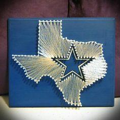 Dallas Cowboys String Art, Dallas Texas String Art, State string art