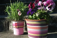 Lime Post: DIY Plant Pot Slipcovers