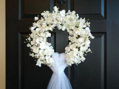 wedding wreath spring wreath front door wreaths by aniamelisa