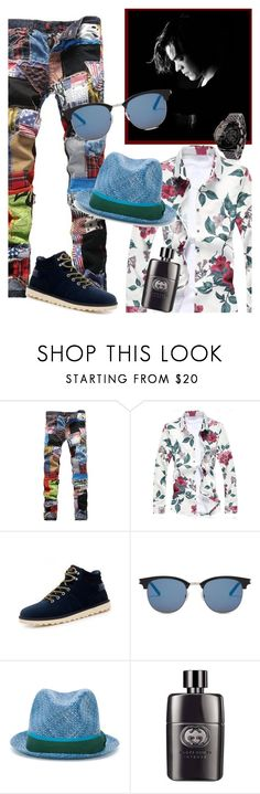 """""""Rock my world!"""" by ivyfanfic ❤ liked on Polyvore featuring GET LOST, Yves Saint Laurent, Paul Smith, Gucci, men's fashion and menswear"""