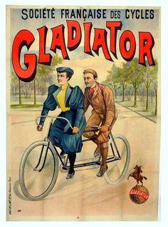 OLD POSTER FOR BIKES AND MOTORCYCLES Vintage Ephemera, Vintage Ads, Vintage Posters, Tandem Bicycle, Old Bicycle, Tricycle, Vespa Motorcycle, Vintage Cycles, Popular Art