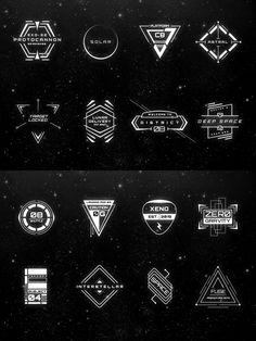 16 Sci-Fi Badges #design Download: https://creativemarket.com/MehmetRehaTugcu/70801-16-Sci-Fi-Badges?u=ksioks