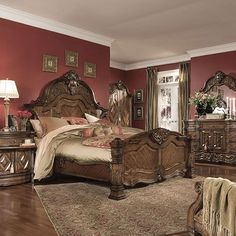 King Size Bedroom Sets King Size 5pc Carson 1394 Bedroom
