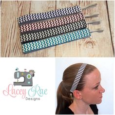 ce5d2f32d5d1f ... Rae Designs by Lacey Sparkman. Chevron velvet lined no slip headband.  sports