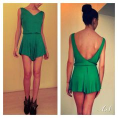 Envy green overalls by AS