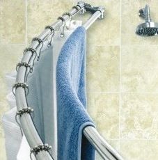 I have used two shower curtain rods for years for this very purpose!