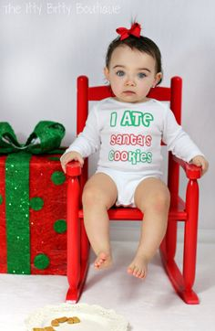 I Ate Santa's Cookies  Funny Christmas ONESIE  by ShopTheIttyBitty, $17.00