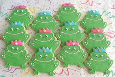 Prince Frog or Princess Frog Cookie Favors    FROG by lorisplace, $36.99
