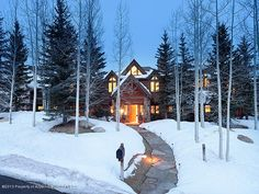 285 Pfister Drive - Listing # 129023 - Price: $8,795,000 - Situated in the heart of the Maroon Creek Club, this warm & inviting home is perfect for the mountain lifestyle. Located within steps of the Tiehack lift, the Maroon Creek Golf Club, & the pedestrian bridge to the Aspen Recreation Center, any activity that beckons is right outside the door. Just minutes from downtown Aspen!