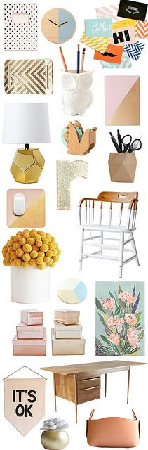 a-lovely-life-fun-and-fresh-workspace by A Lovely Lark, via Flickr