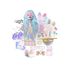 untitled #23 Bubblegum Pop, Mixed Feelings, Style Me, Super Cute, Polyvore, Anime, Stuff To Buy, Characters, Design