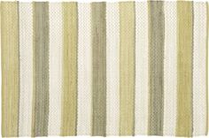 Harper Maize 4'x6' Rug in All Rugs | Crate and Barrel | Stripes and green. Fantastic.