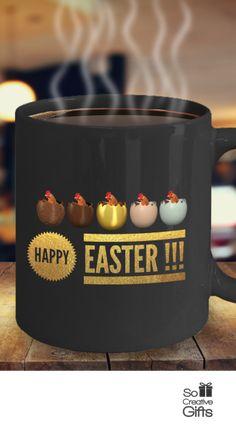 Happy easter bunny ceramic coffee mug black 11oz cute easter happy easter ceramic mug black 11oz ultimate easter gift idea negle Image collections