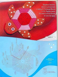:) many crocheted rugs with diagram